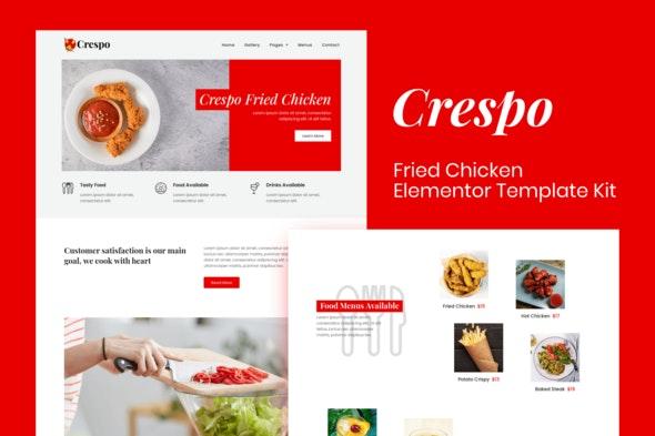Crespo - Fast Food Restaurant Elementor Template Kit - Food & Drink Elementor