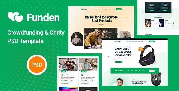 Funden - Crowdfunding & Charity PSD Template - Charity Nonprofit