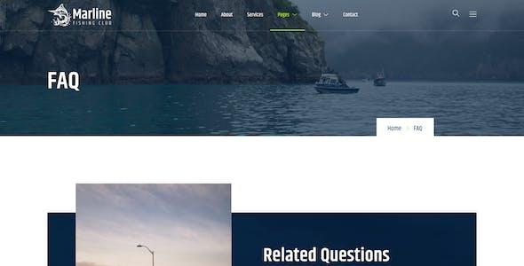 Marline – Fishing & Hunting Club Elementor Template Kit
