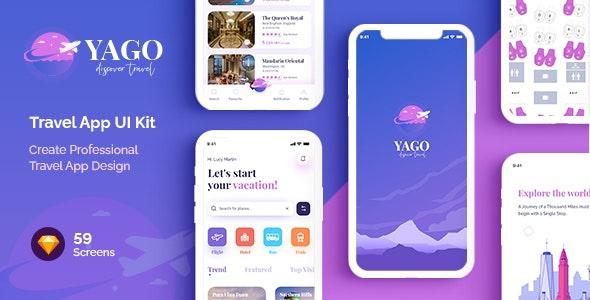 YAGO   Travel App UI Kit for Sketch - Travel Retail