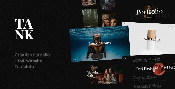 Tank - Creative Portfolio Showcase HTML Website Template - Portfolio Creative