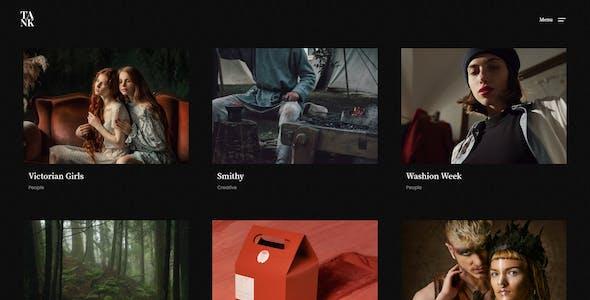 Tank - Creative Portfolio Showcase HTML Website Template