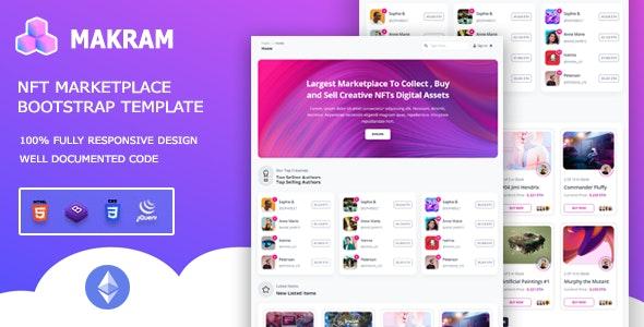 Makram - NFT Marketplace Bootstrap 5 Template - Technology Site Templates