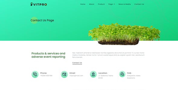 Vitpro - Herbal Health Elementor Template kit