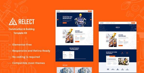 Relect - Construction & Building Elementor Template Kit