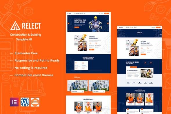 Relect - Construction & Building Elementor Template Kit - Real Estate & Construction Elementor