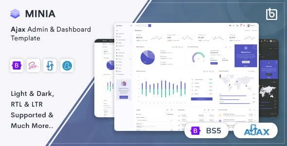 Minia v1.0 – Ajax Admin & Dashboard Template
