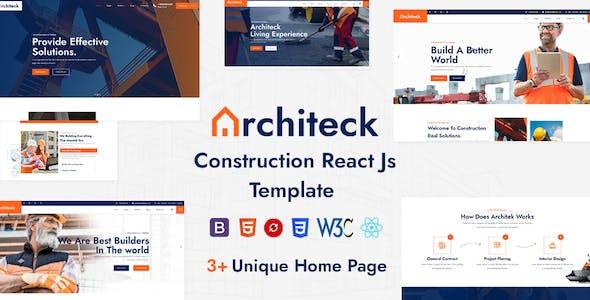 Architeck - Construction React Js Template