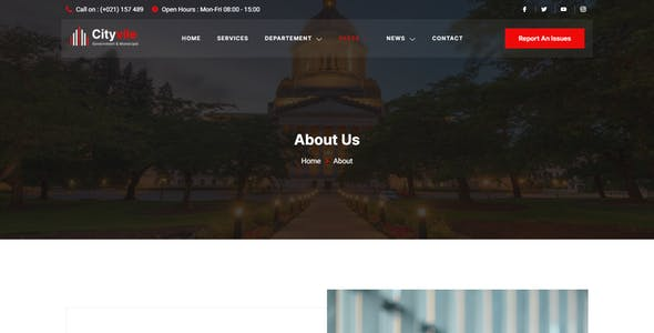 Cityvile – City Government & Municipal Elementor Template Kit