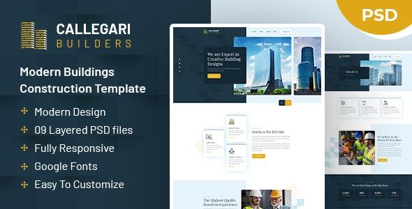 Callegari Builders | PSD Template - Business Corporate
