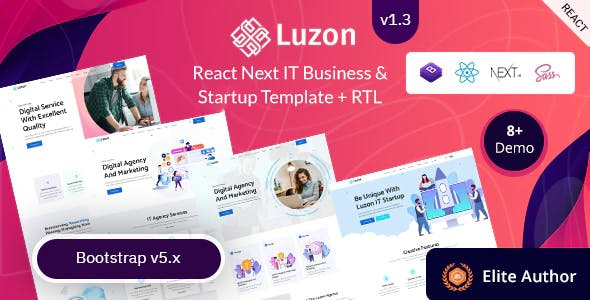React Next IT Business & Startup Template - Luzon
