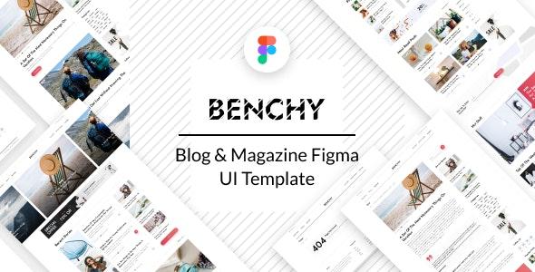 Benchy - Blog & Magazine Figma UI Template - Creative Figma