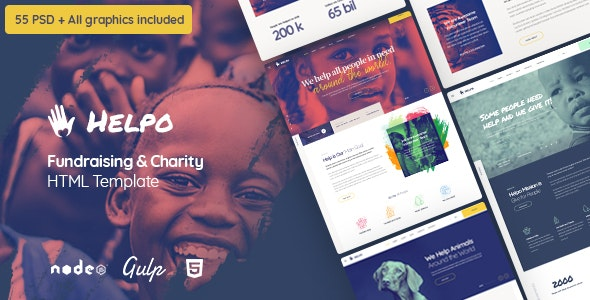Helpo | Fundraising & Charity HTML Template - Charity Nonprofit