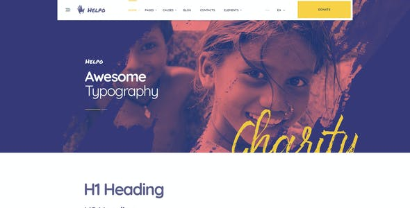 Helpo | Fundraising & Charity HTML Template