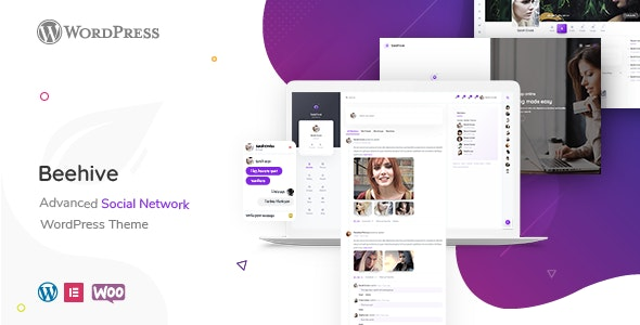Beehive v1.4.2 – Social Network WordPress Theme