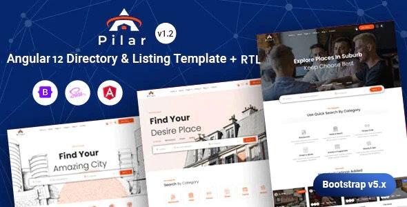 Angular 12 Directory Listing Template - Pilar - Business Corporate