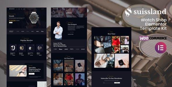 Suissland - Watch Shop Elementor Template Kit