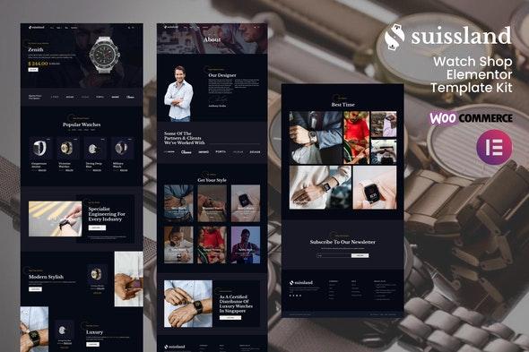Suissland - Watch Shop Elementor Template Kit - Shopping & eCommerce Elementor