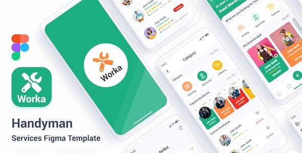 Worka – Handyman Services Figma Template