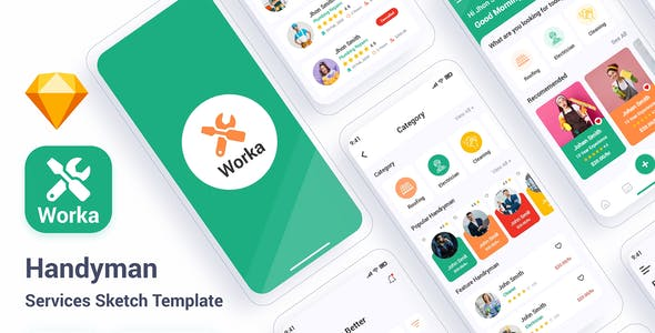 Worka – Handyman Services Sketch Template