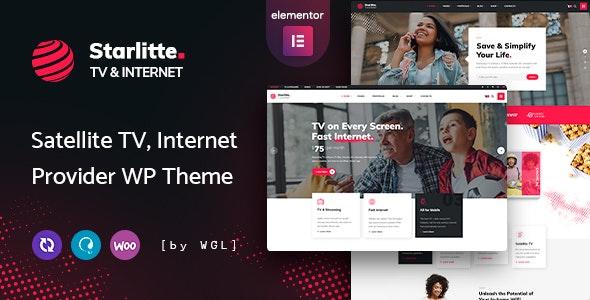 Starlitte - TV & Internet Provider WordPress Theme - Technology WordPress