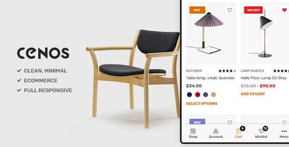 Cenos - Modern Furniture WooCommerce Theme