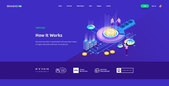 BrandCoin Cryptocurrency PSD Template