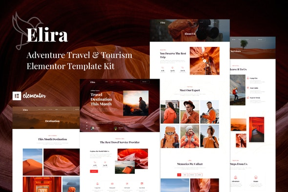 Elira - Adventure Travel & Tourism Elementor Template Kit - Travel & Accomodation Elementor