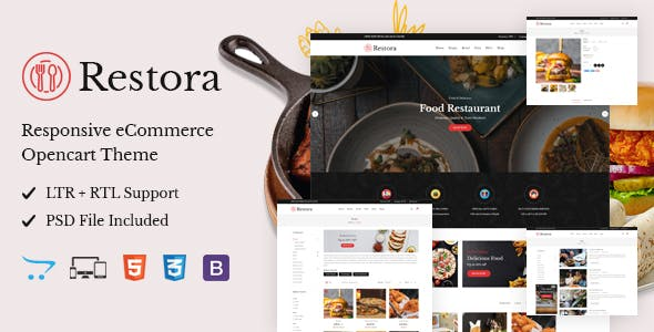 Restora - Responsive OpenCart Theme