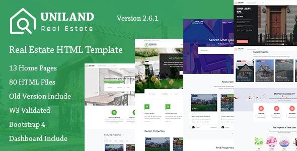 Uniland - Real Estate Template - Business Corporate