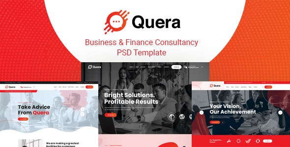 Quera - Business & Finance Consultancy PSD Template