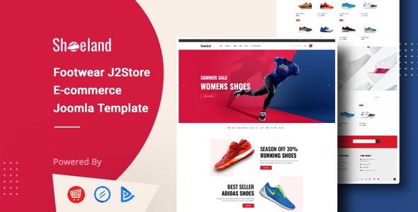 Shoe Land - Footwear J2Store Joomla Ecommerce Template - Shopping Retail