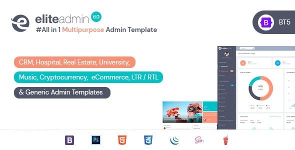 Elite Admin - Bootstrap 5 Dashboard template - Admin Templates Site Templates