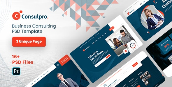 Consulpro - Business Consulting PSD Template - Corporate Photoshop