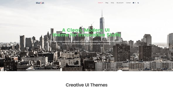 Market - Online Store WooCommerce WordPress Theme