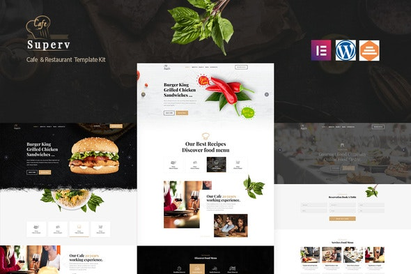 Superv Cafe - Restaurant Elementor Template Kit - Food & Drink Elementor