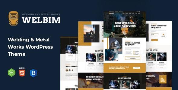 Welbim - Welding Services WordPress Theme - Business Corporate