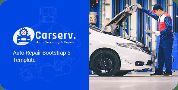 Carserv - Auto Repair Bootstrap 5 Template
