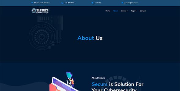 Securs - Cyber Security Service Elementor Template Kit