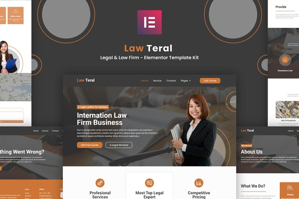 LawTeral - Legal & Law Firm Elementor Template Kit - Elementor Template Kits