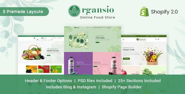 Organsio - Organic Responsive Shopify Theme - Shopify eCommerce