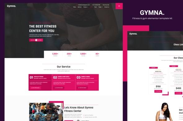 Gymna - Fitness & Gym Elementor Template Kit - Sport & Fitness Elementor