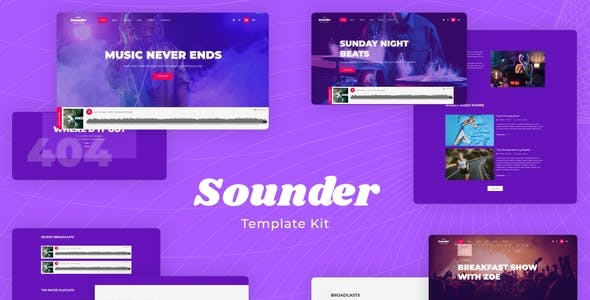Sounder | Online Internet Radio Station Template Kit