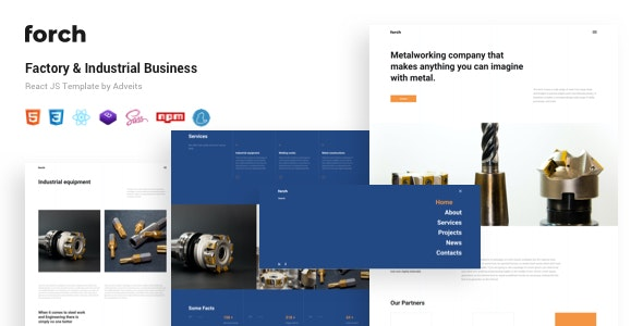 Forch - Factory & Industrial Business React JS Template - Business Corporate