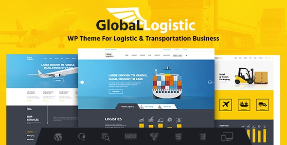 Global Logistics | Transportation & Warehousing WordPress Theme - Business Corporate