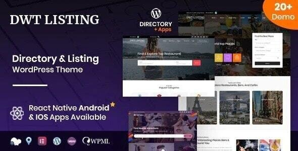 DWT - Directory & Listing WordPress Theme - Directory & Listings Corporate