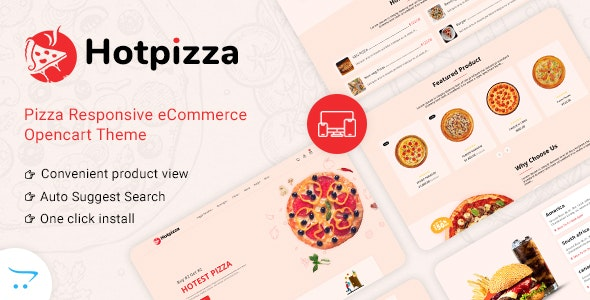 HotPizza v1.0 – Pizza & Food Delivery OpenCart Store