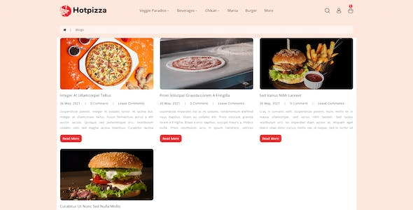 HotPizza - Pizza & Food Delivery OpenCart Store