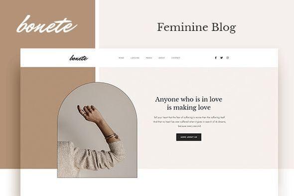 Bonete - Feminine Blog Elementor Template Kit - Personal & CV Elementor
