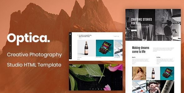 Optica - Creative Photography Studio HTML Template - Photography Creative